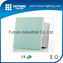 Shenzhen frosty glass shelf waterproof IP67 rgb color 200x200mm led brick light