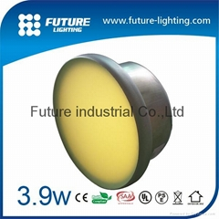 Outdoor IP67 glass  floor recessed round in ground led brick light