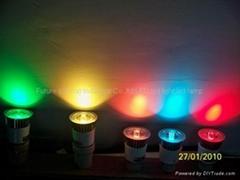 5W RGB led spotlight GU10 AC110-220V