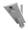outdoor Motion Sensor in one solar led street light 20 watt with Lithium Battery
