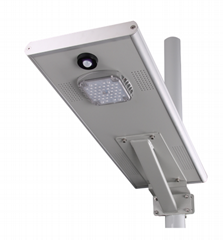 Shenzhen led solar light outdoor integrated with pir sensor solar led street lig