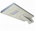 Outdoor IP65 integrated with pir sensor solar panel 30 watt all in one led