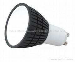 3W GU10 high power led spot lamp ceramic shell