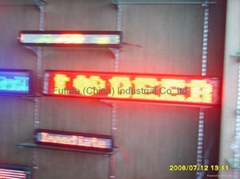 2inch Red 7*95 led moivng sign