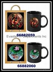 陶瓷馬克杯及掛架組