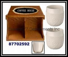 Wood Coffee House Rack