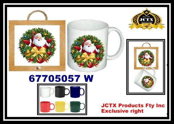 陶瓷馬克杯及陶瓷杯墊掛架組 1