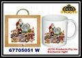 陶瓷馬克杯及陶瓷杯墊掛架組 3