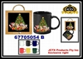 陶瓷馬克杯及陶瓷杯墊掛架組 4