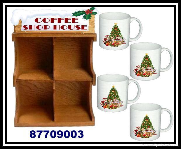 木製聖誕咖啡杯屋架 2