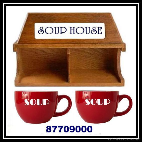 木製聖誕咖啡杯屋架 5