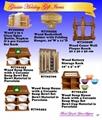 Wood Christmas Coffee House Rack