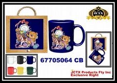 陶瓷馬克杯及陶瓷杯墊掛架組