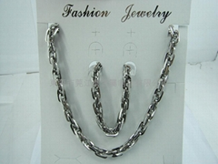 不锈钢项链套装饰品
