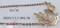 Stainless steel Phoenix drop Jewelry