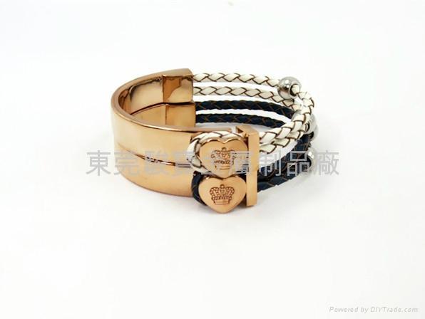 Rose gold Crown Bracelet 3