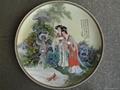 高档骨质瓷手绘工艺座盘