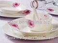 红粉佳人骨质瓷餐具 1