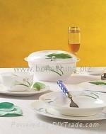 马蹄莲骨质瓷餐具