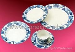 骨质瓷釉中彩20头西餐具
