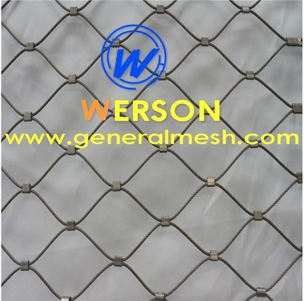 Animal rope mesh,zoo enclosure mesh