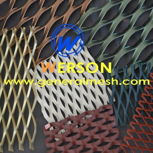 aluminum expanded metal mesh wall cladding,Sun screen panel,Solar Shading panel