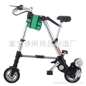 铝合金电动折叠自行车