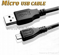 USB Micro 5P Cable For Cell Phone or