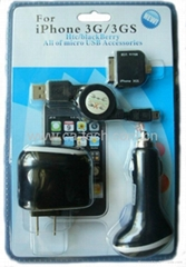 IPhone 4gs 4g 3GS 4 合 1  充電器