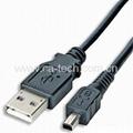 USB2.0 MINI 4P Cable Mitsumi 4P Male (B
