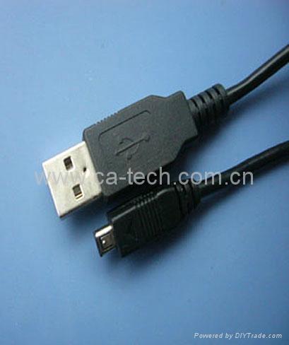 数码相机线:USBA公 TO MINI4P公数据线 1