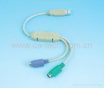 USB 转PS/2连接线 1