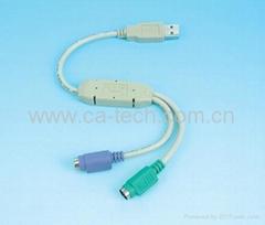 USB 转PS/2连接线