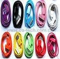 彩色苹果4数据线 iphone4s usb充电线 6芯 3G ipad充电线 2