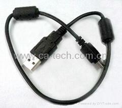 USB2.0 MINI5P 數據線 USB 迷你5P線 帶磁環