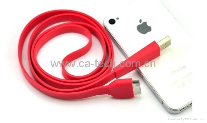 苹果彩色扁线,苹果彩色数据线 5