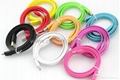 USB Colorfull Noodle Micro 5Pin Cable    Micro USB Cables For SAMSUNG HTC