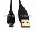 MINI 5P USB2.0  Cable With two cores