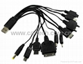 10 in 1 Charger USB Cable for iphone iPod Motorola Nokia Samsung LG Sony PSP