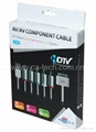 AV Component cable for iPad/iPhone/iPod L=1.8M