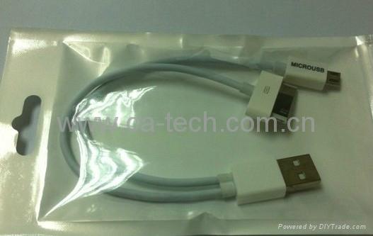 一拖三 一分三 苹果 三星平板 USB 数据线 HTC手机充电线 连接线 5