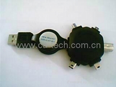 USB  五合一伸縮線 轉接頭 多功能轉接頭