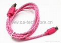 OEM Colorful Micro Braided USB Cable For Galaxy S3 Cable With High Quality