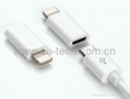 iPhone5 8pin To Micro Adapter Micro USB Conector for Charging Aand Data Transfer