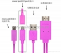 Samsung micro female USB cable to HDMI MHL cable for samsung S2 MHL cable