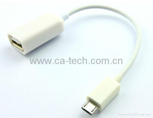 手机OTG数据线 鼠标 键盘 U盘AF To Micro OTG数据线 2