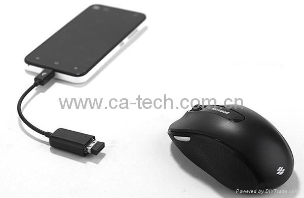 手机OTG数据线 鼠标 键盘 U盘AF To Micro OTG数据线 4