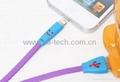 笑臉iPhone 5 數據線 笑臉蘋果彩色線 笑臉8-Pin數據線