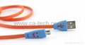 Smiley Face Micro USB Cable with LED Light For SAMSUNG HTC Charging/Data Cable 3