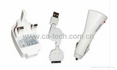 iPhone 4GS 車充 旅充 充電器組合套